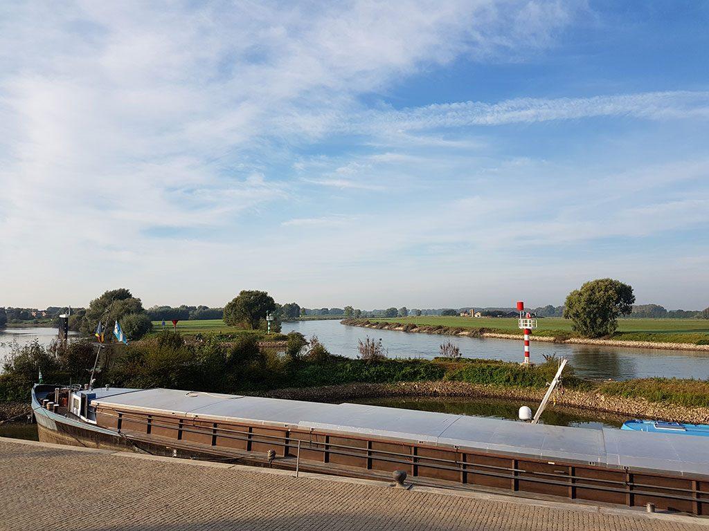 Een prachtig uitzicht over de IJssel